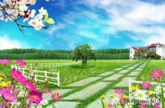 Красивый пейзажный PSD-исходник - 32 (PSD)