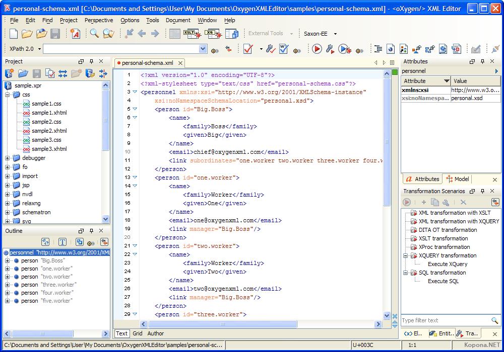 Oxygen XML Editor v11.1