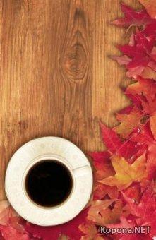 Красивый кофейно-осенний PSD-исходник - 46 (PSD)