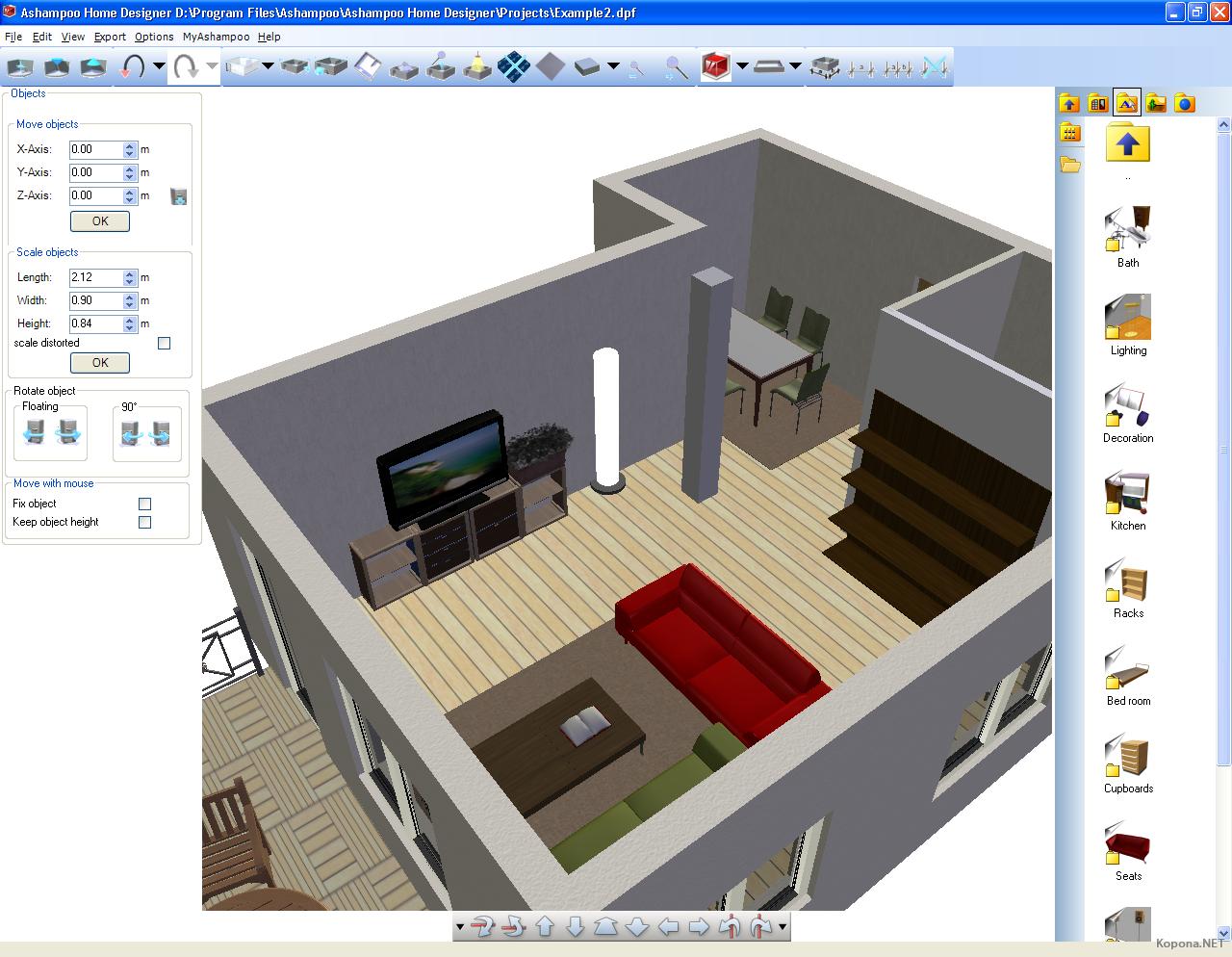 Ashampoo home designer v1 0 0 for Programas para hacer casas virtuales