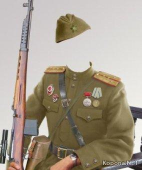 """Шаблоны - """"Военная форма"""" (PSD)"""