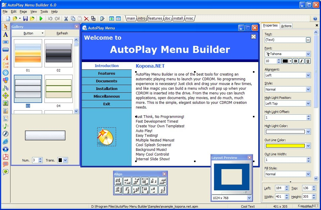Autoplay menu builder v62 for Autoplay menu builder templates