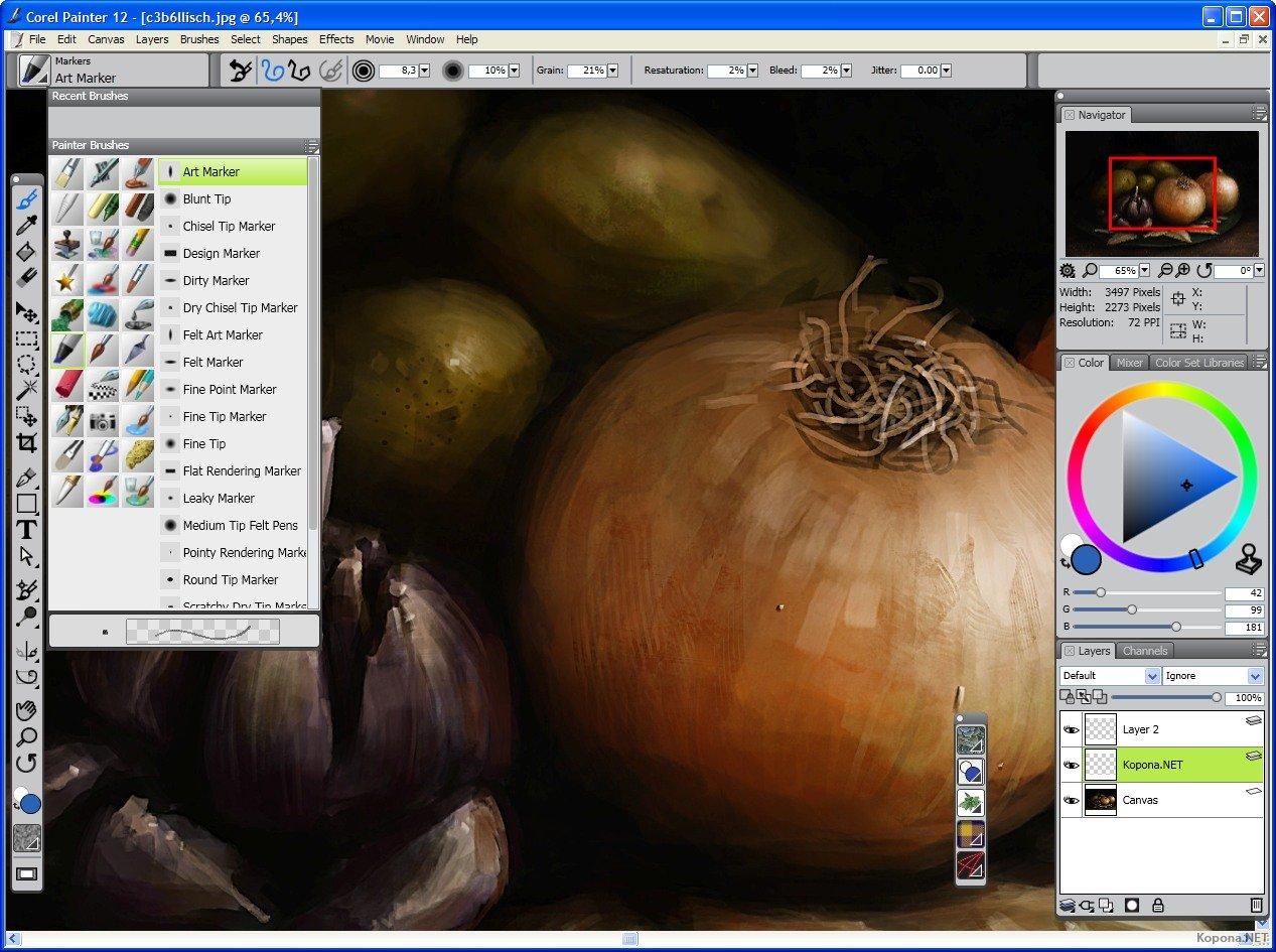 Программа corel painter 12