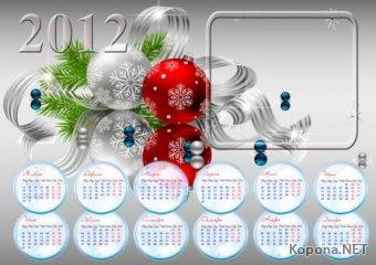 Новогодний календарь 2012 года - 06 (PSD)